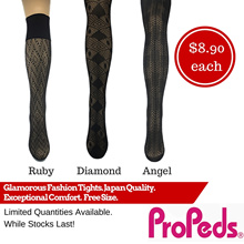[Propeds] (8787) Black Ruby Black Diamond and Black Angel. Glamorous Fashion Tights.