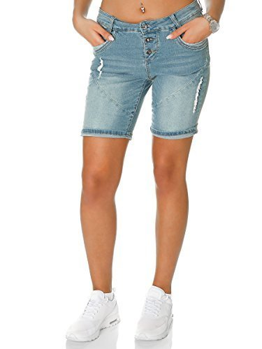Young Wild Fashion Jeans Short Herren Casual Destroyed Jeansshort Kurze Hose