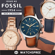 [NEW ARRIVALS] FOSSIL Leather and Stainless Steel Watches for Men and Ladies. Free Shipping!