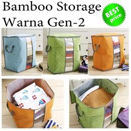Bamboo Storage Warna Gen-2 || Bamboo storage Stand - up || organiser bed cover  selimut  pakaian