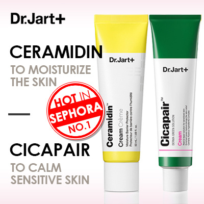 [BREEZY] ? [Dr.Jart+] Ceramidin / Cicapair Re-Cover 50ml / Sensitive Skin Day Care / Liquide / Oil Deals for only Rp382.700 instead of Rp562.794