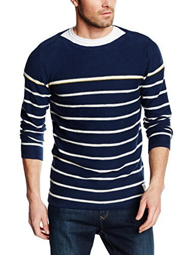 f9e354c20b6dd2 Direct from Germany - TOM TAILOR Denim Herren Pullover Pullover Striped  Boat Neck Pullover 602