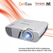 ViewSonic PJD6552LWS WXGA LightStream Networkable Short Throw Projector- 3500 ANSI