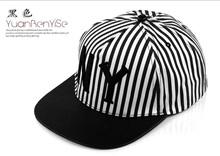 topi hip hop fashion korea unisex NY New York garis hitam putih jto033