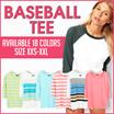 Vintage Split Neck Baseball Tee 9 Colors_Super Comfortable Material/Casual Tshirt