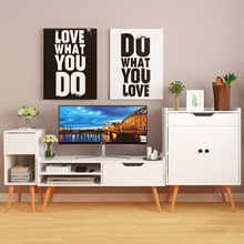[Agoramart] Wooden Off White Side Table + TV Console + Storage Cabinet Set * Free Installation