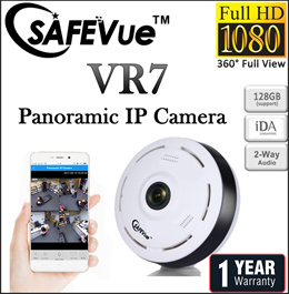 SAFEVue Panoramic IP Camera VR7 | Night Vision| 360° Full View| Local Warranty