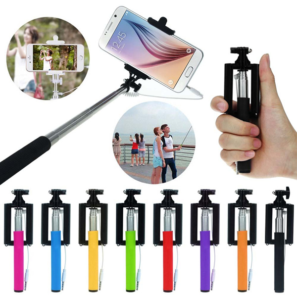 SHENSEE Super Deal 2016 Super Mini Extendable Stick Holder Handheld Fold Self-portrait Monopod for Travel Selfie Sticks 8 Colors Deals for only S$10.76 instead of S$0