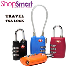 TSA Lock|3 Digit Combination Cable Padlock|For Travel Luggage Suitcase Bags and Gym Lock