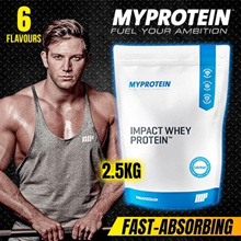 MyProtein Impact Whey Protein (2.5kg 5 lbs)*and* MUSCLETECH (1.81kg 3.97 lbs) 30g Protein