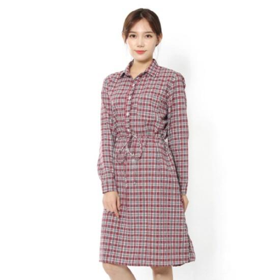 ルシャプLeShopチェック・ローブ型ワンピースLH9OP601 面ワンピース/ 韓国ファッション