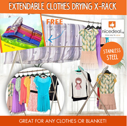 Extendable Clothes Drying X-Rack Great for Any Clothes Or Blanket/Upgraded version/Multi-color