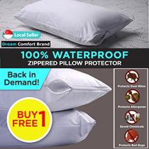 BUY 1 FREE 1 - Dream Comfort 100% Waterproof Zippered Pillow Protector