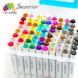 36/ 40 color Superior Twin Marker Pen Set 1/5mm Alcohol Based Ink Art Markers Student /Design