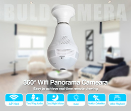 360 Degree Panoramic Wifi 960P1.3MP wireless ip camera light bulb camera Home Security