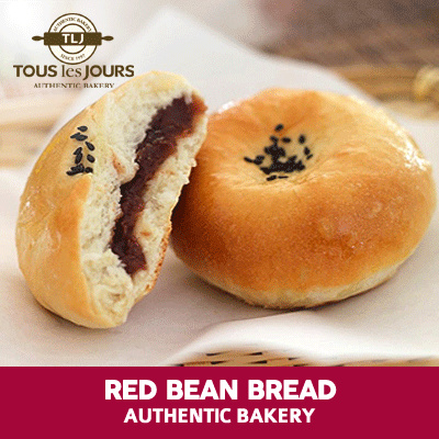 [DESSERT] Red Bean Bread /Tous Les Jours /TLJ Deals for only Rp9.100 instead of Rp9.100