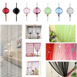 1 X Fringe Crystal Beads String Curtain Tassel Door Window Room Divider Size:1m*2m