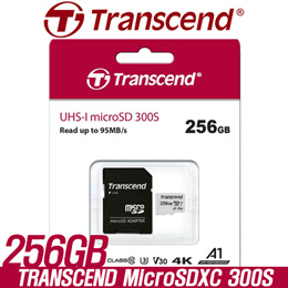 [[SUPER SALE]] Transcend 256GB microSDXC/SDHC 300S Class 10 Memory Card with Adapter