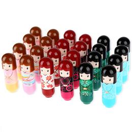 24pcs Magic Waterproof Cartoon Kimono Doll Lip Balm Moisturizing Lipstick