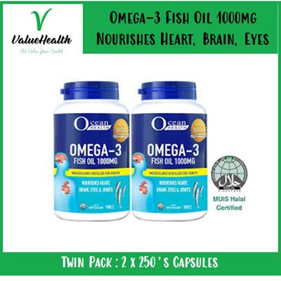 Ocean Health Omega 3 Fish Oil 1000mg