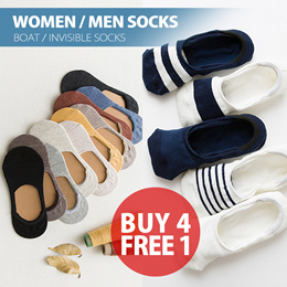 🆕 Great Sale★Men/Women Boat Ankle Invisible Socks★Buy 4 Get 1 Free★High Quality★