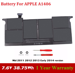 Laptop Battery For Apple MacBook Air A1406 A1370 2011 Production A1465 MC965 Free shipping