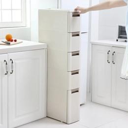 18cm틈새 서랍형 수납장/ 주방 좁은공간 수납장/냉장고 틈새 거치대/욕식 다층 수납장