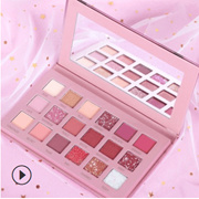 3pcs / Cross Over Makeup / Anya Ray De Blink Crystal Eye Shadow / Matte / Pearl / Instagram Red / Fresh Color / 18 / Eye Shadow Palette