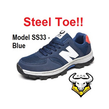 KaiTheGent Safety Shoes Steel Toe Cap Work boots Steel Sole Sports Light Breathable