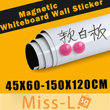 Dry Erase Flexible Magnetic Nano Whiteboard Wall Sticker/kids sketchpad/Memo/blackboard/0.3mm Thick