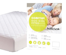 [Free Pillow Protector] Hillcrest Fitted Mattress Protector up to 45cm Double sided anti dustmite