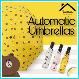 NOMAD Brown bear and Flamingo Cartoon Design Automatic Umbrella Anti-UV Folding Umbrella