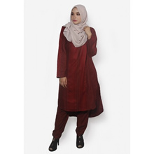 Fitri Baju Kurung Pants Suit Only (Red)