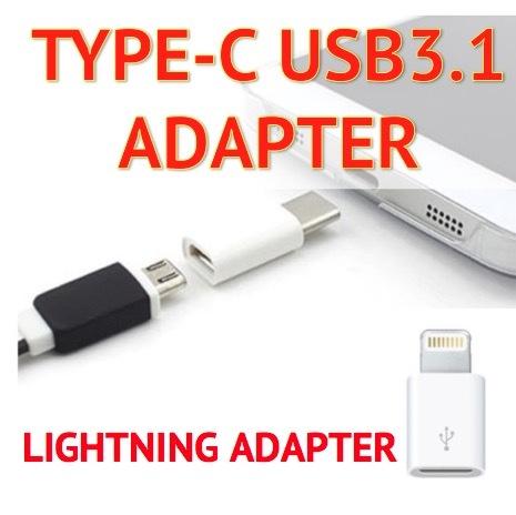 ?SG Warranty? $0.88 MicroUSB to USB 3.1 Type C Lightning Adapters OTG Data Transfer Charging