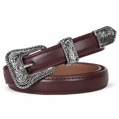 c3c5510026 JASGOOD Women Leather Belts Ladies Vintage Western Design Black Waist Belt  for Pants Jeans Dresses