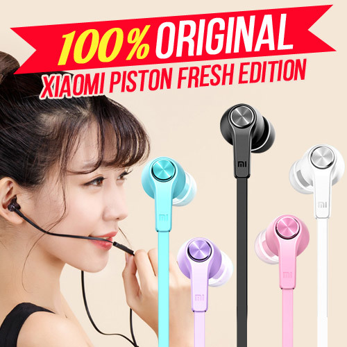 [Original 100%] NEW Xiaomi Piston In-Ear Earphones Fresh Edition Deals for only Rp90.000 instead of Rp90.000