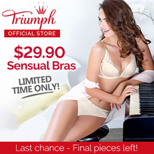 Triumph Sensual Push Up Bras / Feminine / Sloogi Bras / Sports Bra / Wired / Push Up / Padded