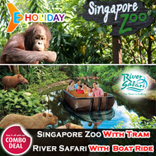 [ E-Holiday ] Singapore Zoo with Tram + River Safari With Boat ride E-TICKETS email delivery
