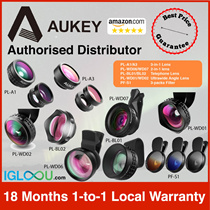 ★US/SG Best Seller Lens!★ Aukey 3-in-1 Lenses // Telephoto Lens // Ultrawide Angle Lens