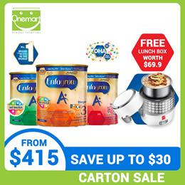 **$35 OFF**[Carton Sale] Enfagrow A+ Milk Powder Formula Stage 2/3/4/5 1.8kg - FREE LUNCH BOX($69.9)