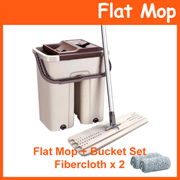 Flat Mop with Bucket Set / Easy Wash Squeeze Dry