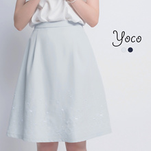 YOCO - Highwaist Skirt with Embroidery Detail-170697