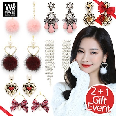 Dec New style undated!! [EVENT 2+1]?SUPER SALE? The Best Selling Fashion Earrings Made in Korea / Luxury Jewelry Deals for only S$50 instead of S$0