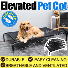 Elevated Pet Cot/Bed Frame with Net/ Dog / Cat/ Animal/ Waterproof/Durable packable pet mat
