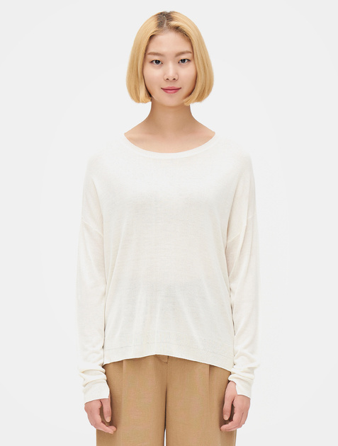 8SECONDS [LAB8] Round Neck Knit Pullover – Ivory