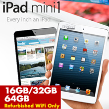 [Refurbished] Apple iPad Mini 16GB/32GB/64GB / iPad Mini 2 Retina Display (WiFi ONLY)