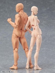 2pcs Figma Japanese Anime 15CM  Archetype She and He Flesh Color (Youth Version)  Gift Collectio