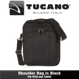 CLEARANCE! Tucano Shoulder Bag For iPad and Tablet (Black) (A) BONXS