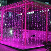New 3Mx3M 300LED Icicle Curtain Fairy String Lights Wedding Party Xmas Decor LED Plastic Holiday Cur