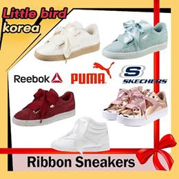 9d3fe22332a406  Season off ▷○◁RIBBON Lace-up Sneakers Puma Basket Heart